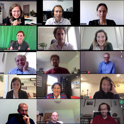 Screenshots Bernstein Conference 2020 online