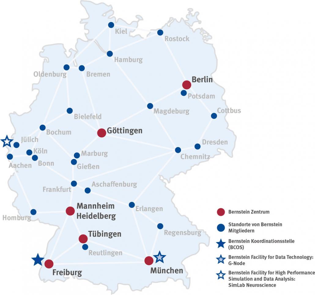 Deutschlandkarte Standorte DE